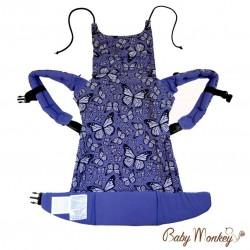 BabyMonkey Regolo ергономична раница Butterfly лилаво (регулируема)