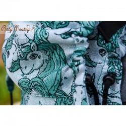 BabyMonkey Regolo ергономична раница Unicorns glitter emerald (регулируема)