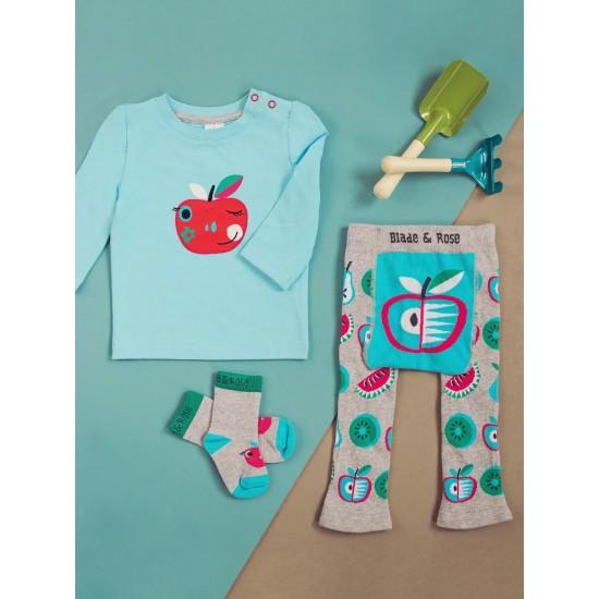 3в1 Комплект Blade&Rose - Ябълка (блуза, клинче и чорапки)