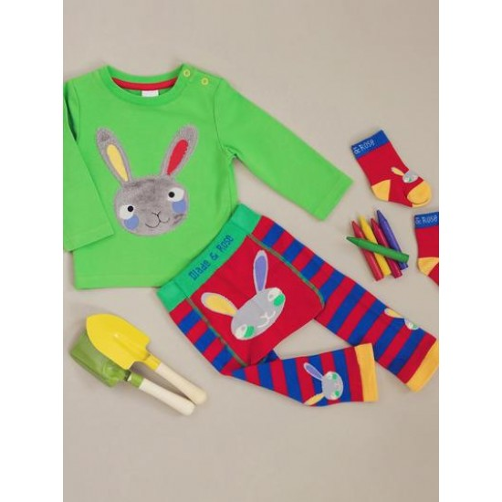 3в1 Комплект Blade&Rose - Зайче (блуза, клинче и чорапки)