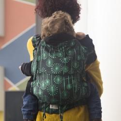 Ергономична раница регулируема HuggyBerry Dandelion Emerald - Размер бебе