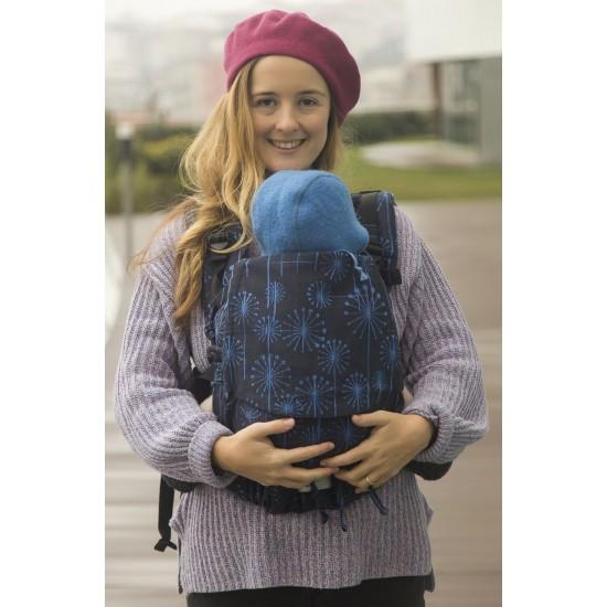 Ергономична раница регулируема Huggyberry Dandelion Sapphire - размер бебе