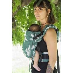 Ергономична раница регулируема HuggyBerry Dock Jade - размер бебе