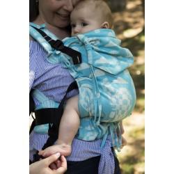 Ергономична раница регулируема HuggyBerry Huggadocia Cloud - размер бебе