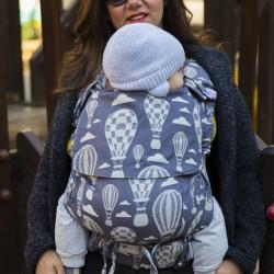 Ергономична раница регулируема HuggyBerry Huggadocia Mist - размер бебе