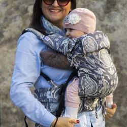 Ергономична раница регулируема HuggyBerry Nar Mist- размер бебе