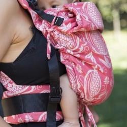Ергономична раница регулируема HuggyBerry Nar Scarlett - размер бебе