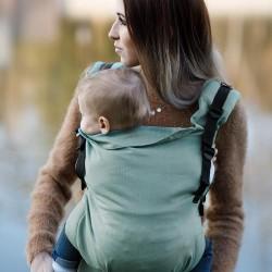 Ергономична раница Kinder Hop Multi Grow - Little Herringbone Turquoise