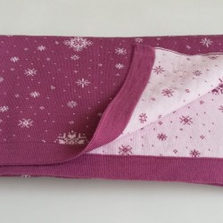 Мериносово одеало Lambinoo двулицево - в тъмно и светло розово