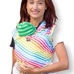 Еластичен слинг OmniaBaby - Rainbow Stripes