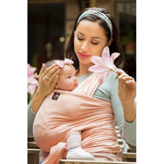 OmniaBaby еластичен слинг едноцветен - Романтично розово