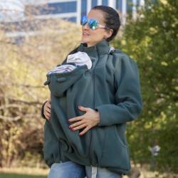 Яке полар 3 в 1 за бременни и бебеносене - зелено, Размер М