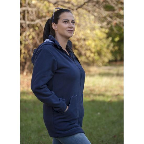 Яке полар 3 в 1 за бременни и бебеносене - синьо