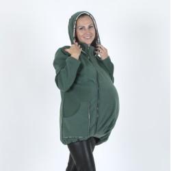 Яке полар 3 в 1 за бременни и бебеносене - маслено зелено