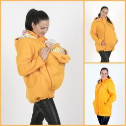 Яке полар 3 в 1 за бременни и бебеносене - жълто