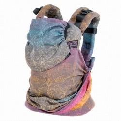 Ергономична раница Emeibaby Baali Rainbow Dark - размер бебе (регулируема)