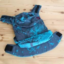 Ергономична раница Emeibaby Treemei Petrol turquoise - размер бебе (регулируема)