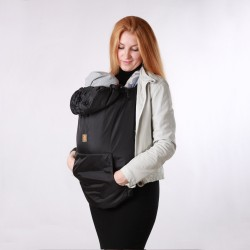 Зимно покривало за бебеносене 2 в 1 Nashsling - Черно