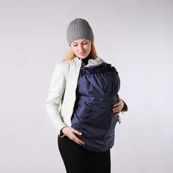 Зимно покривало за бебеносене 2 в 1 Nashsling - тъмно синьо