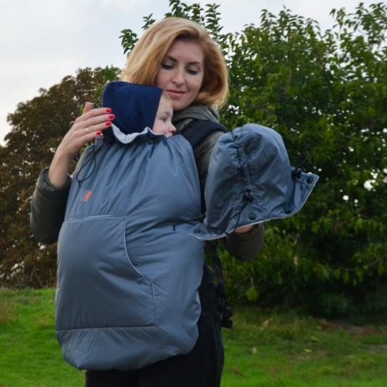 Зимно покривало за бебеносене 2 в 1 Nashsling - Grey