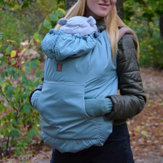 Зимно покривало за бебеносене 2 в 1 Nashsling - Mint