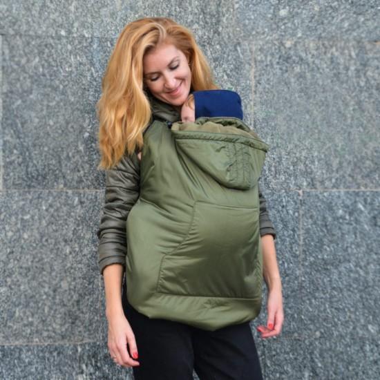 Зимно покривало за бебеносене 2 в 1 Nashsling - Olive