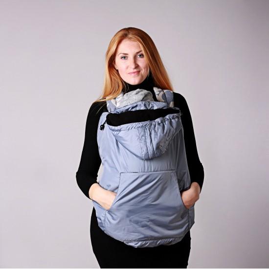 Зимно покривало за бебеносене 2 в 1 Nashsling - Силвър