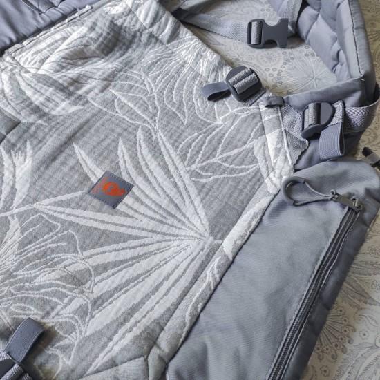 Ергономична раница регулируема Nashsling Combi - Palms Grey full (памук)