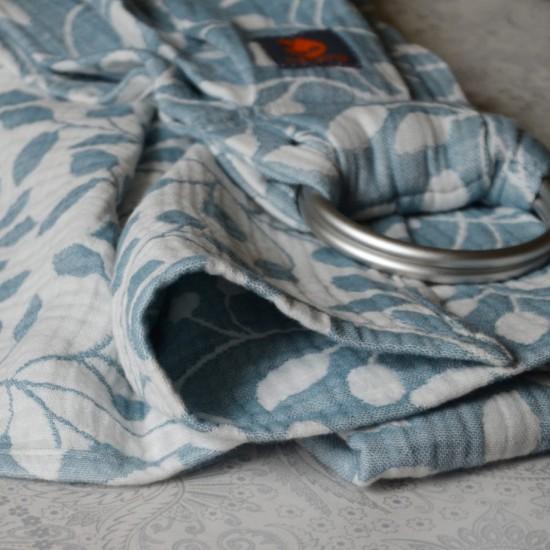 Слинг с халки (ринг слинг) Nashsling - Листа синьо (100% памук)