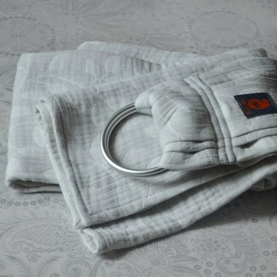 Слинг с халки (ринг слинг) Nashsling - Листа светло сиво (100% памук)
